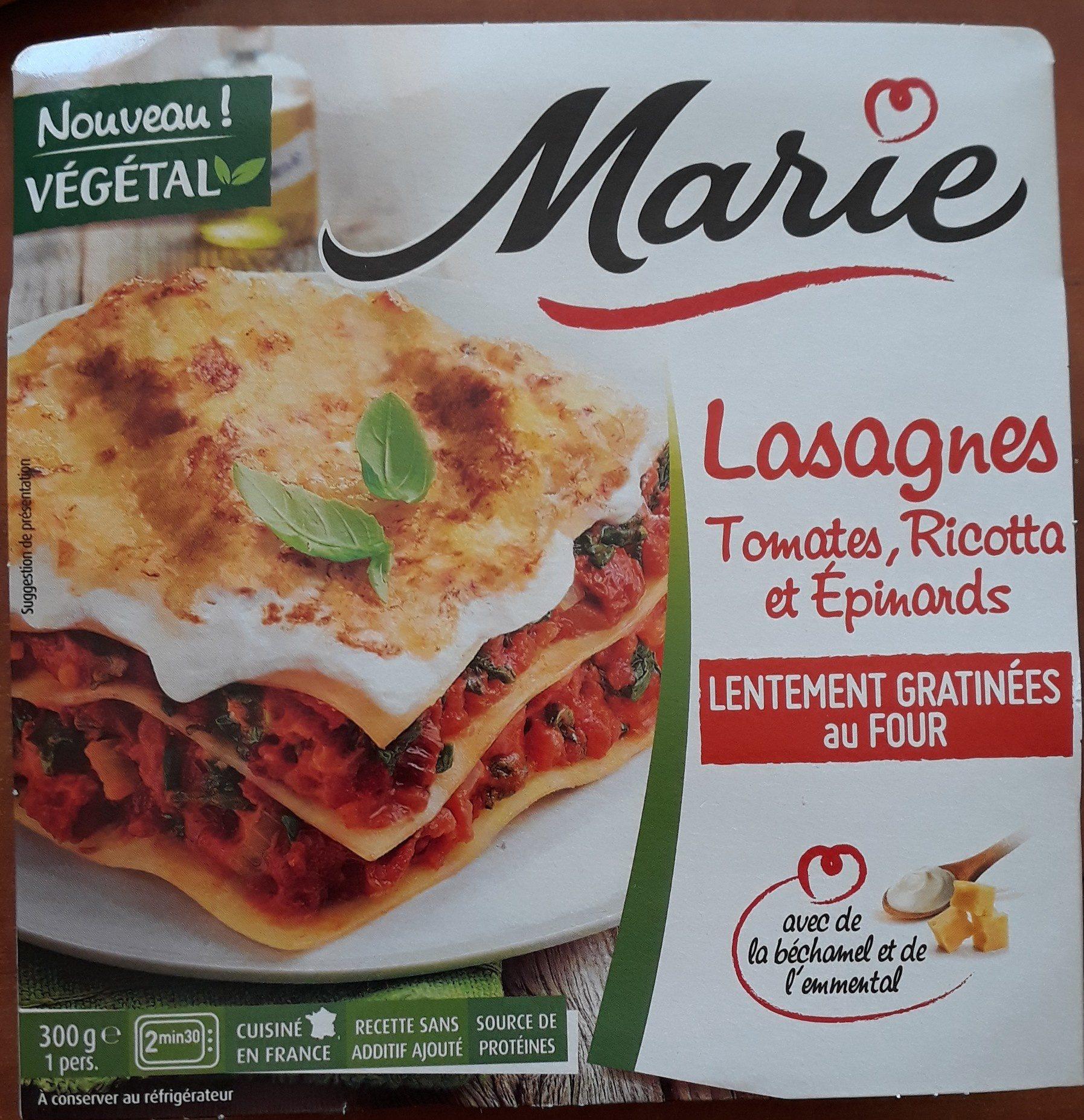 Lasagnes tomates, Ricotta et épinards - Product - fr
