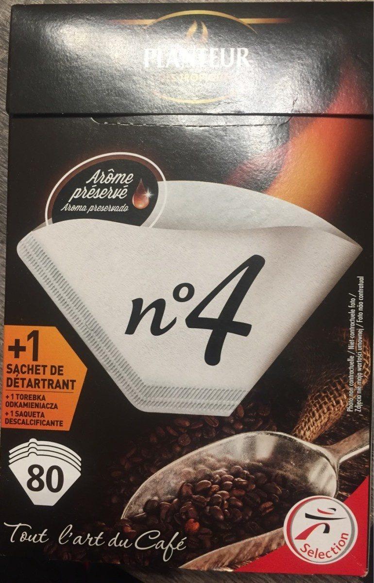 Boîte De 80 Filtres Papier n° 4 + Détartrant - Produit