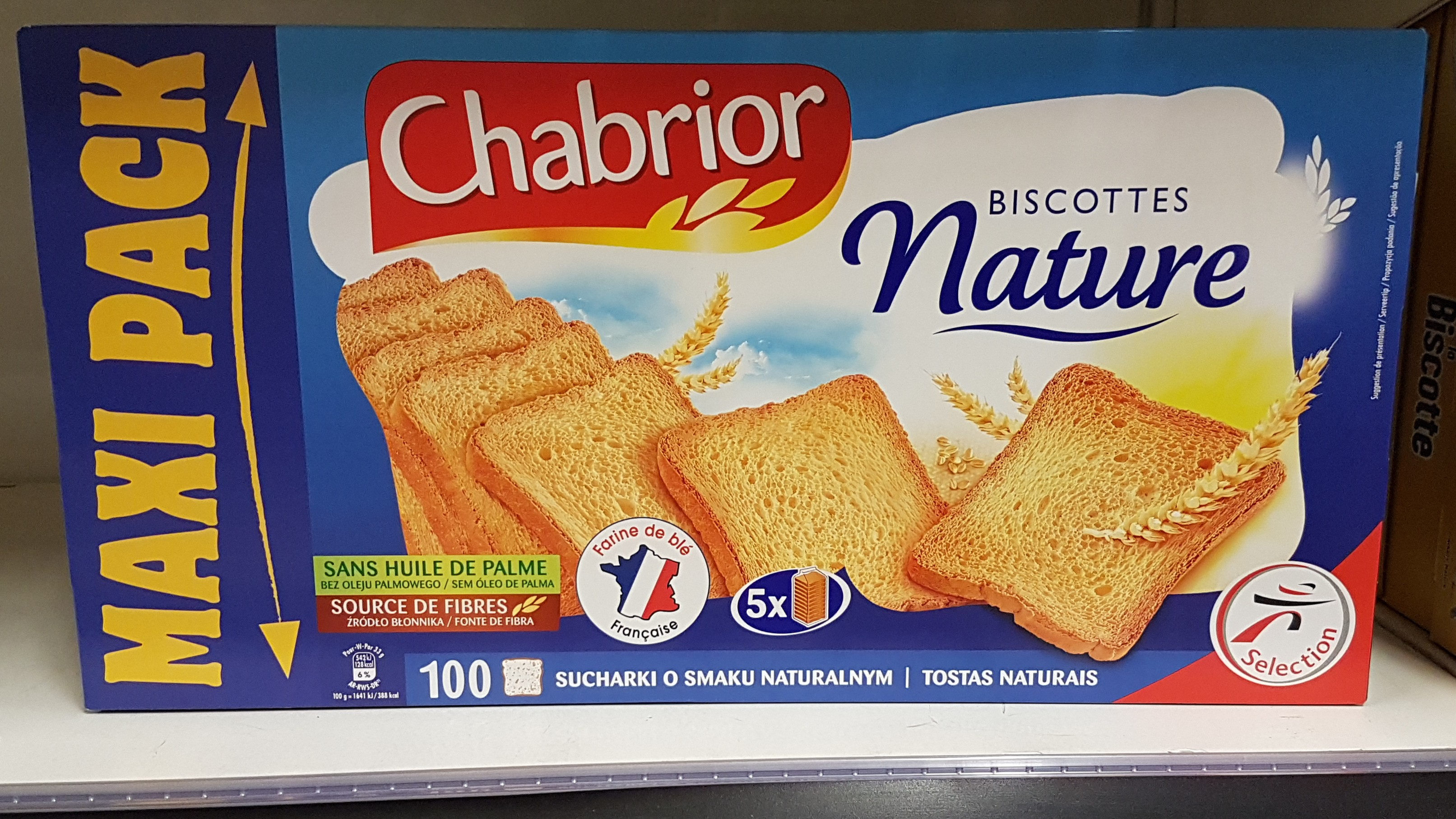 biscottes nature - Produit - fr