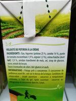 VELOUTÉ DE POTIRON À LA CRÈME - Ingredients - fr