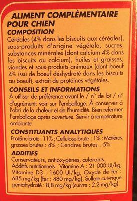 Netto Biscuits Croquants Au Calcium Cereales Viandes - Ingredients