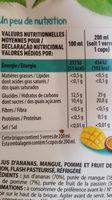 JUS DE FRUITS - Ingredients