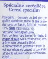 les crozets au sarrasin - Ingredients - fr