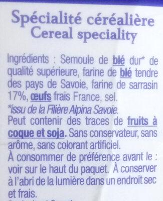 les crozets au sarrasin - Ingredients