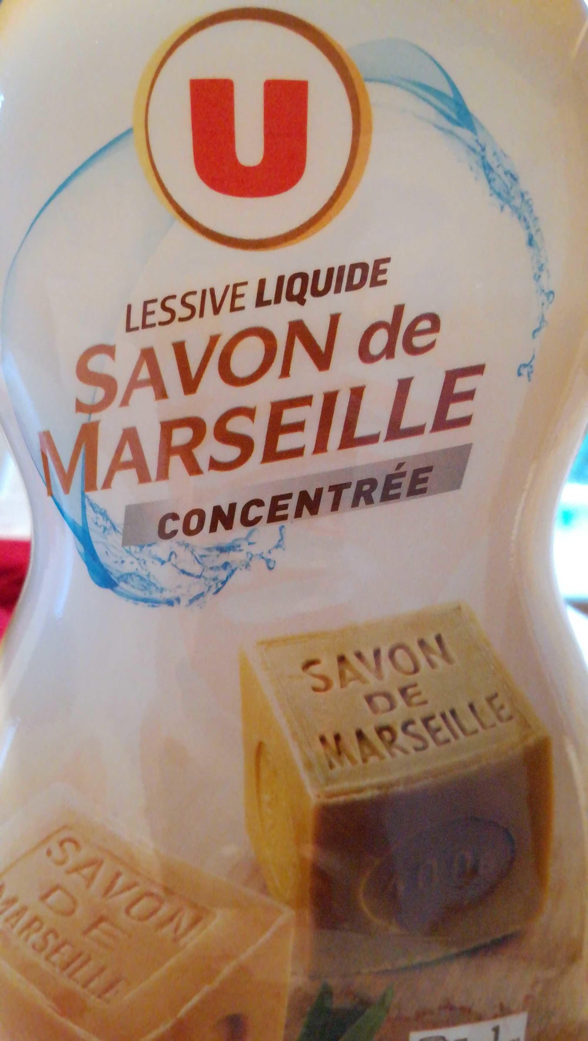Lessive liquide savon de Marseille concentrée - Product - fr