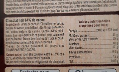 chocolat à pâtisser  CORSÉ - Ingredients