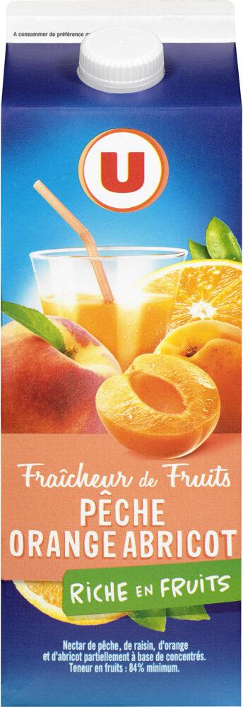 Fraîcheur de fruits orange pêche et abricot riche en fruits - Product - fr