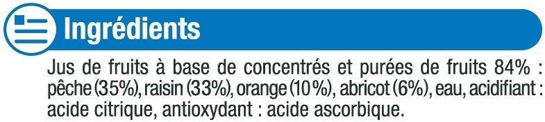 Fraîcheur de fruits orange pêche et abricot riche en fruits - Ingredients - fr