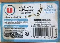 Allumettes U - Ingredients - fr