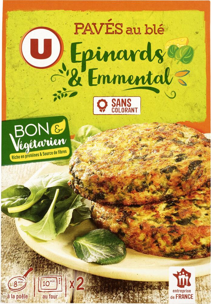 Pavés au blé épinards emmental bon et végétarien - Product - fr