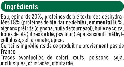 Pavés au blé épinards emmental bon et végétarien - Ingredients - fr