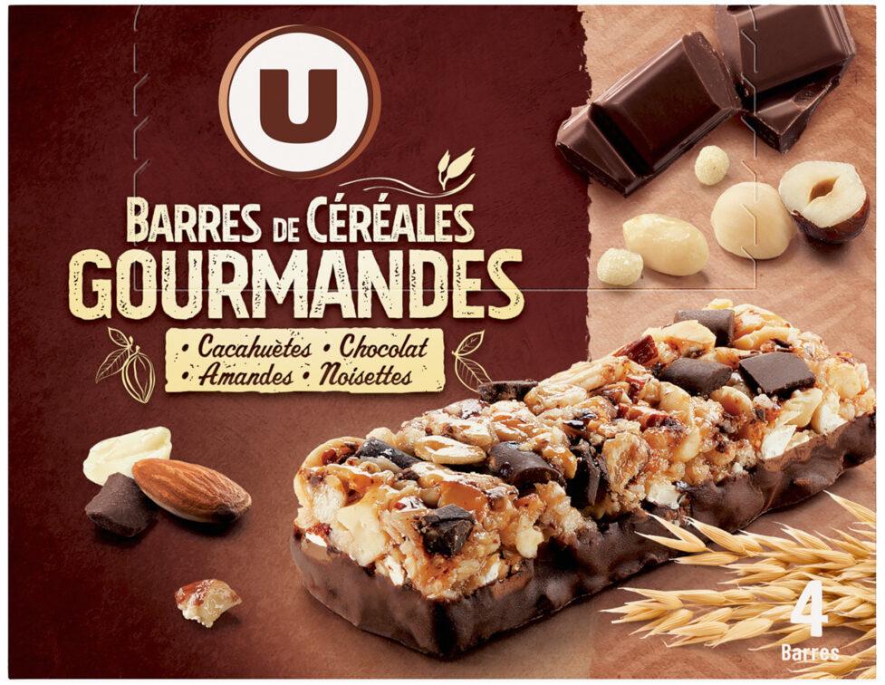 Barres de céréales chocolat cacahuètes - Produit - fr