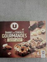 barred de céréales gourmandes cacahuètes chocolat amandes noisettes - Product