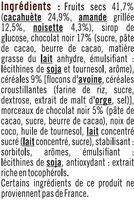 Barres de céréales chocolat cacahuètes - Ingrédients - fr