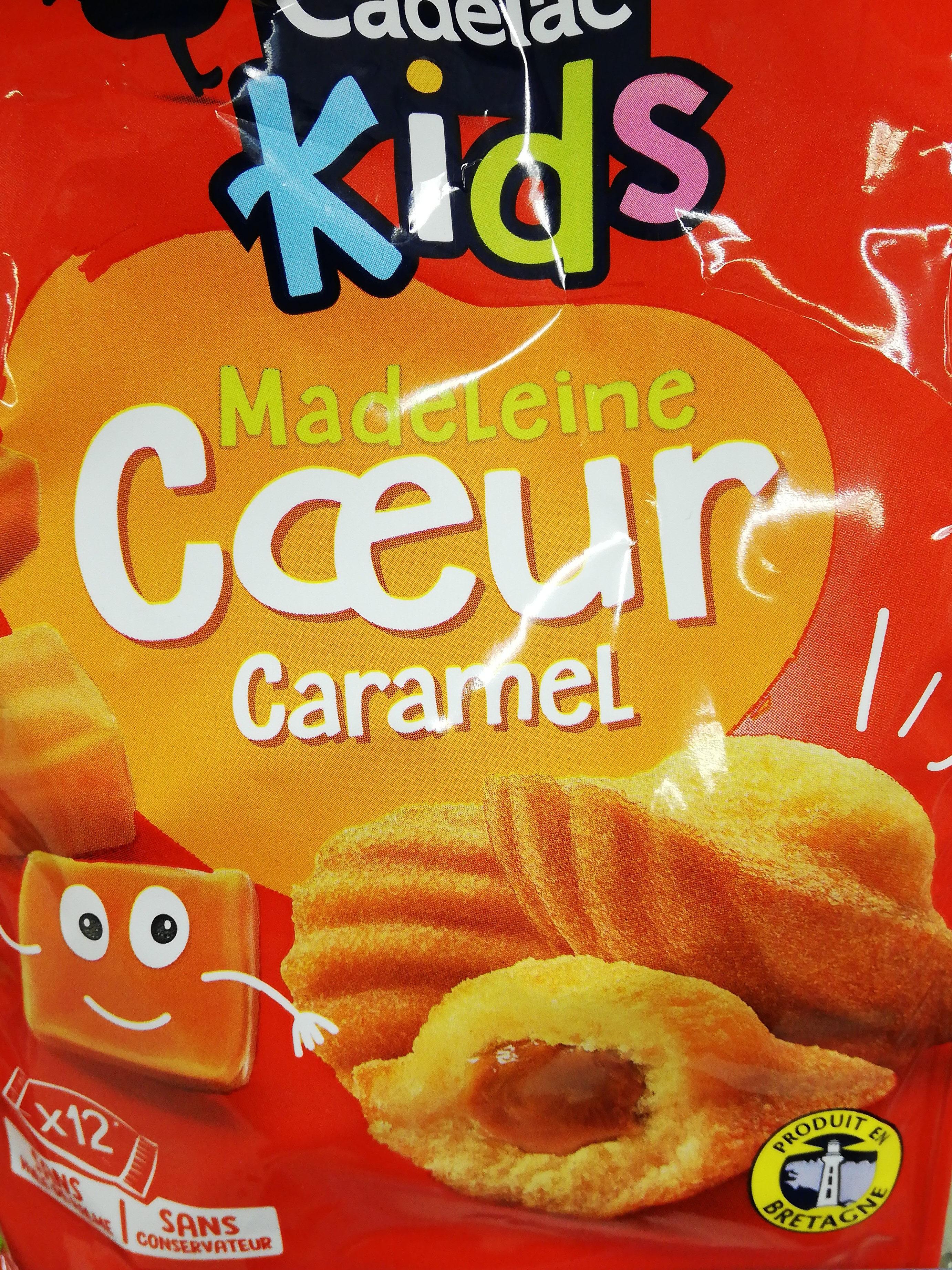 madeleine cœur caramel - Product - fr