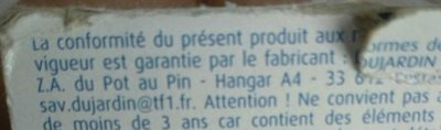 Dujardin - Mille Bornes Poche - Ingredients
