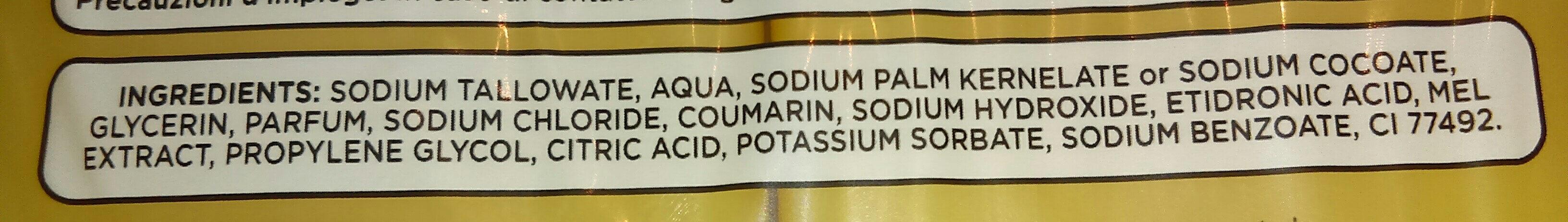 savon de Marseille parfum miel - Ingrédients