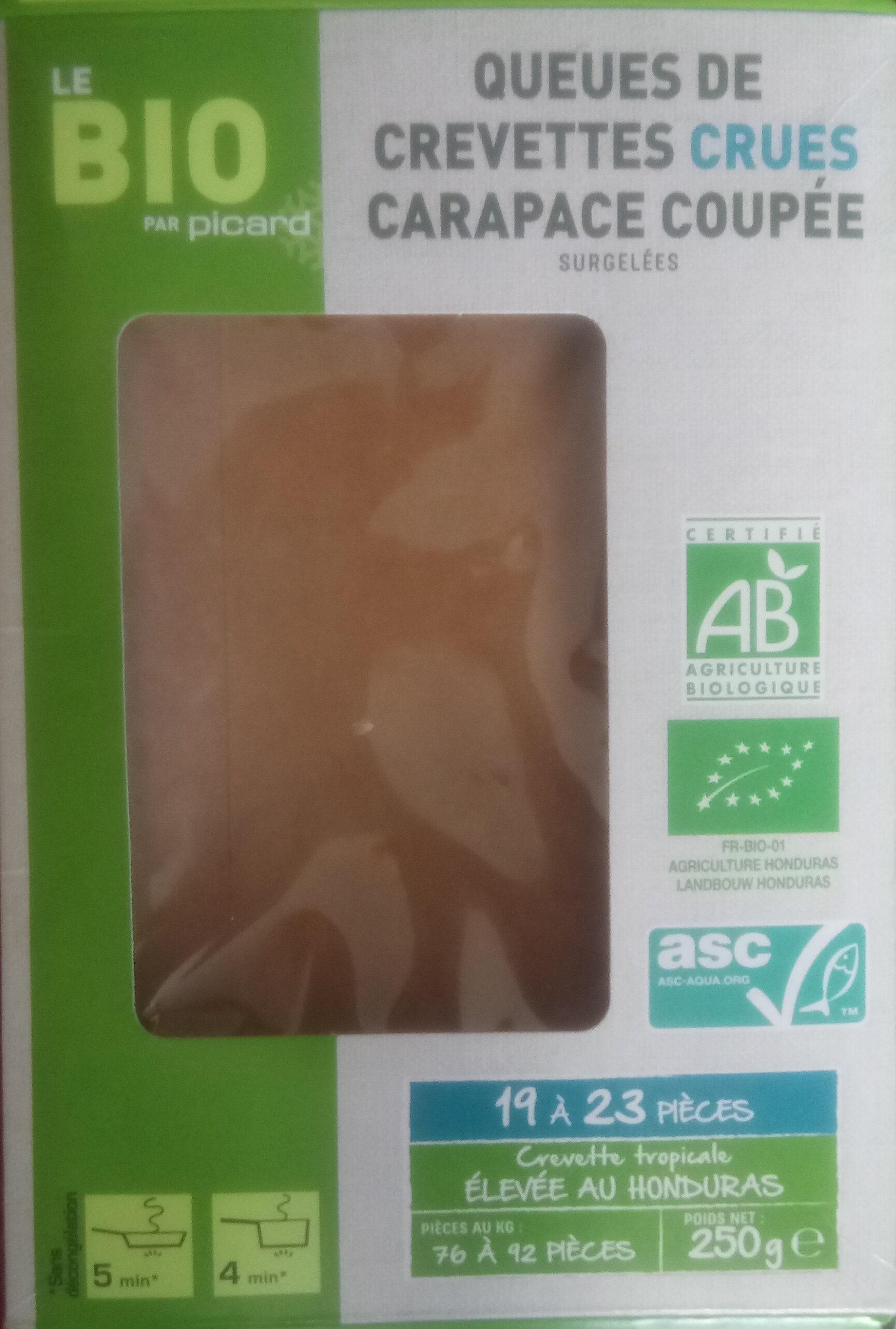 Queus de crevettes crues carapace coupée - Product - fr