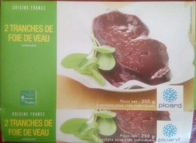 Tranches de foie veau - Product - fr