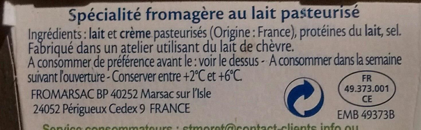 saint Moret - Ingredients - fr