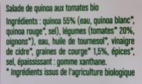 salade de quinoa bio 200g - Ingredients