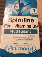 Fer, Vitamine B9 Et Spiruline Vitarmonyl, 30 Gélules, - Produit