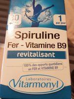 Fer, Vitamine B9 Et Spiruline Vitarmonyl, 30 Gélules, - Product