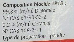 Poudre anti-parasites Poux rouges & puces - Ingrédients - fr