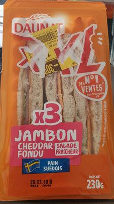 Sandwich jambon cheddar XXL - Product - fr