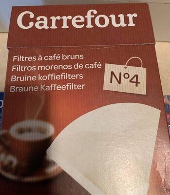 80 Filtres à Café Bruns N° 4 - Product - fr