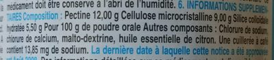 Gelopectose - Ingredients - fr