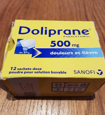 Doliprane 500 mg sachets-dose - Product