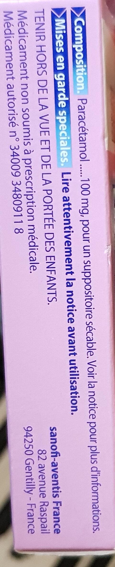 Doliprane paracétamol - Ingredients