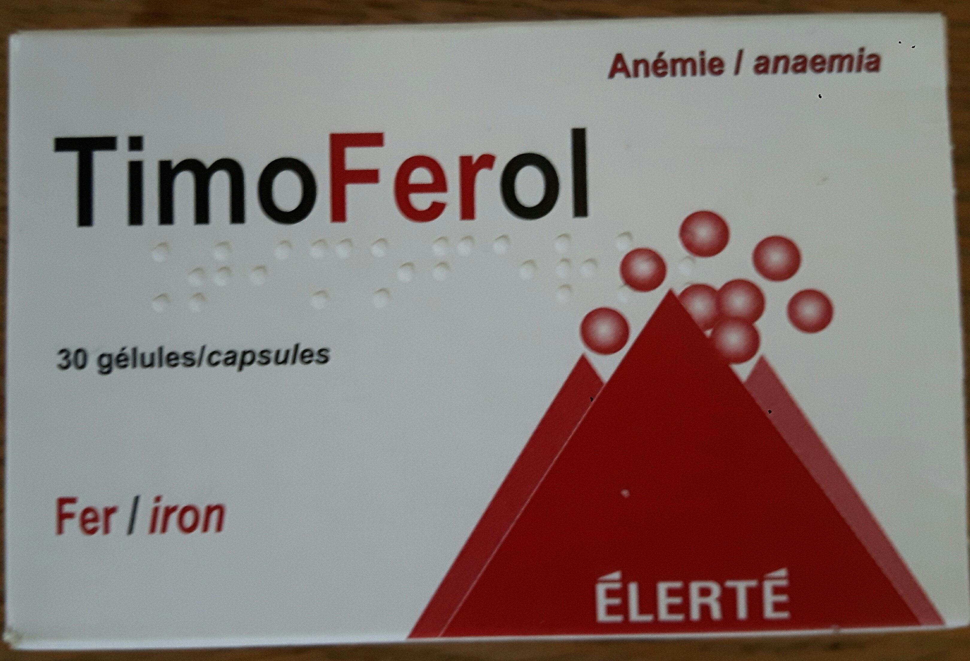 Timoferol, Anémie Fer, 30 Gélules - Product
