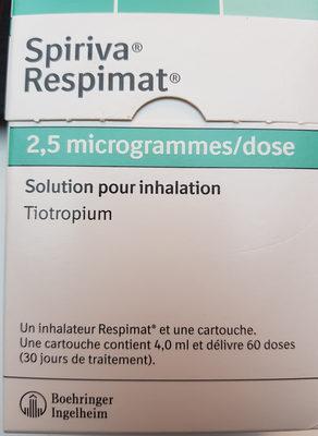 Spiriva Respimat 2,5 microgrammes / dose - Product - fr