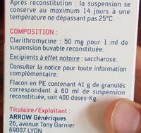 medicament - Ingredients