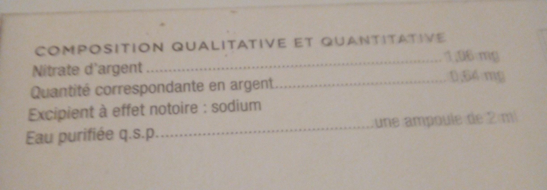 granions d'argent - Ingrédients - fr