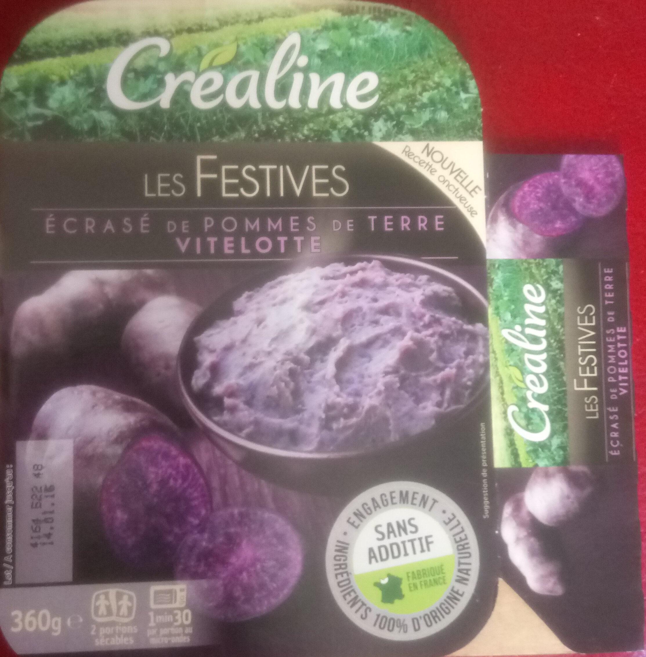 Les festives Écrasé de pomme de terre Vitelotte - Product - fr
