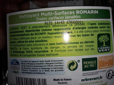 l Arbre Vert - Ingredients - fr
