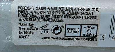 Savon doux aux extraits de jasmin - Ingrédients