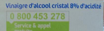 Vinaigre d'alcool cristal - Ingredients - fr