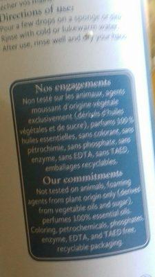 Entretien / Produits Vaisselle / Liquide Vaisselle - Ingredients