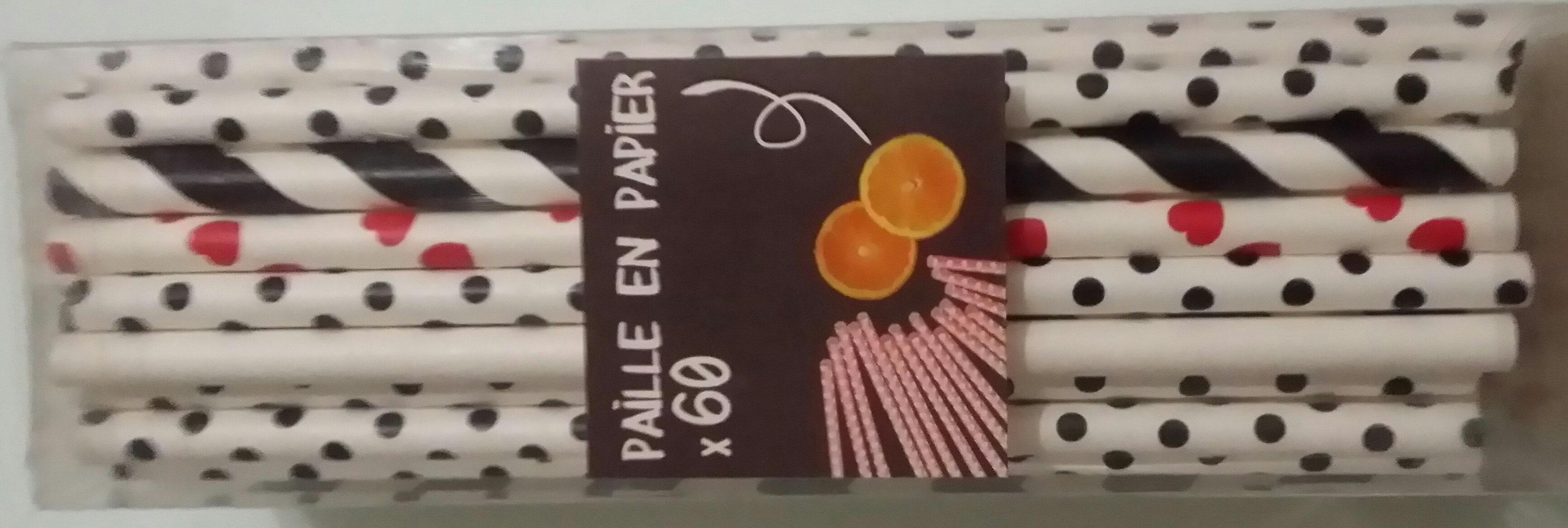 Paille en papier - Produit