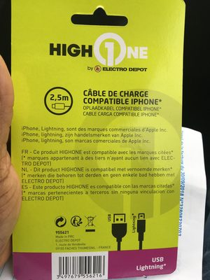 Câble de charge compatible iPhone - Produit