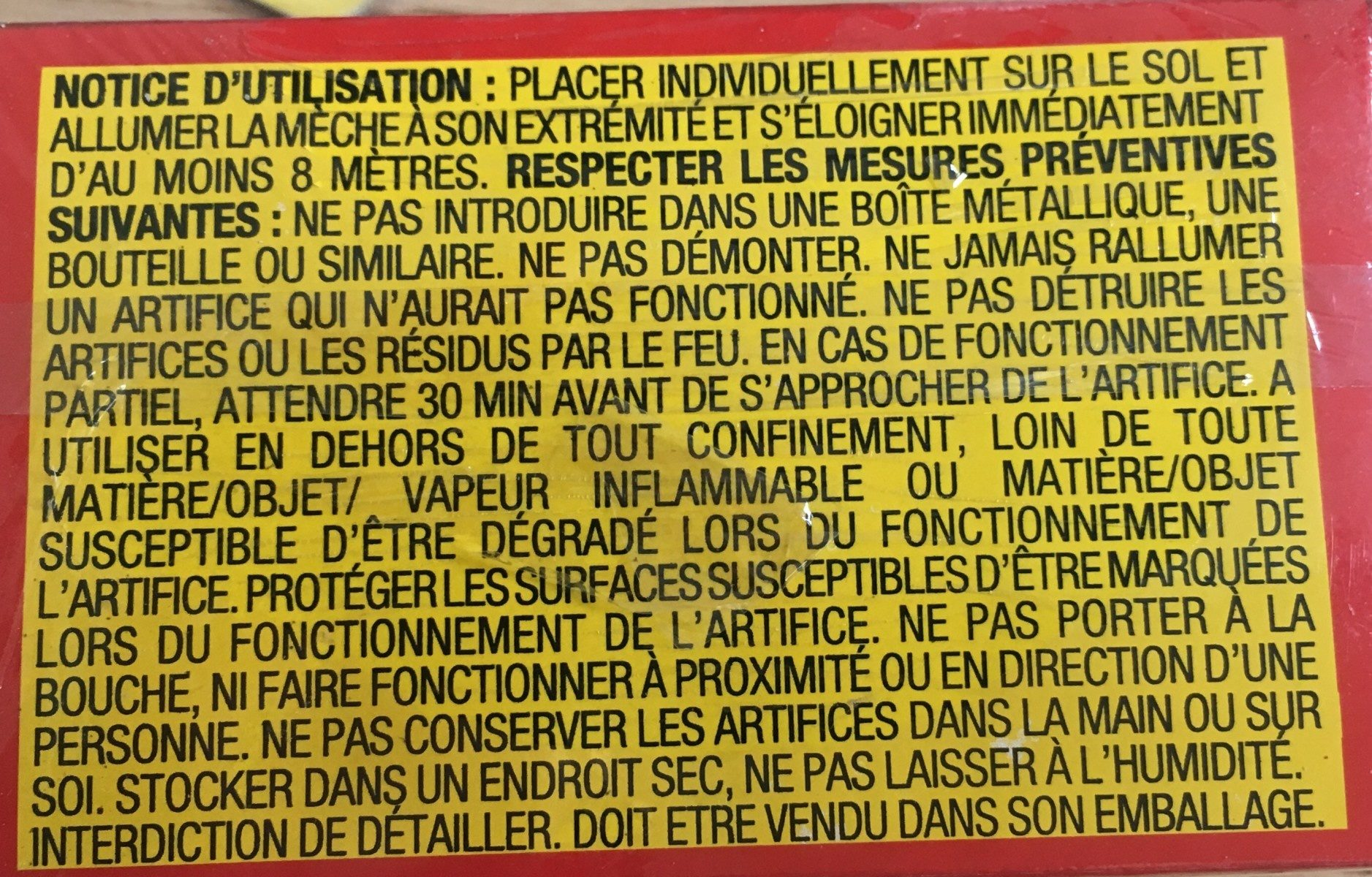 Pétards U2 - Ingredients - fr