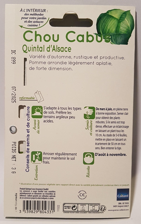 Chou Cabus quintal d'Alsace - Ingredients - en