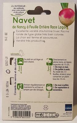 Navet de Nancy à Feuille Entière Race Lagor - Ingredients - en
