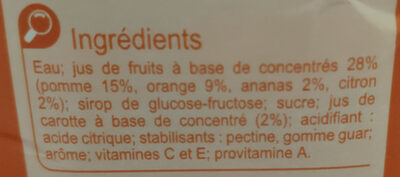 boisson ACE - Ingredients