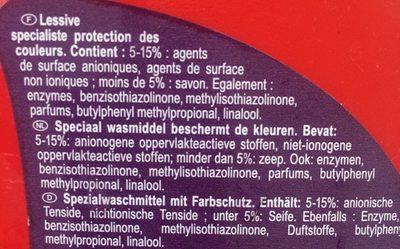 Lessive Liquide Couleur - Ingredients