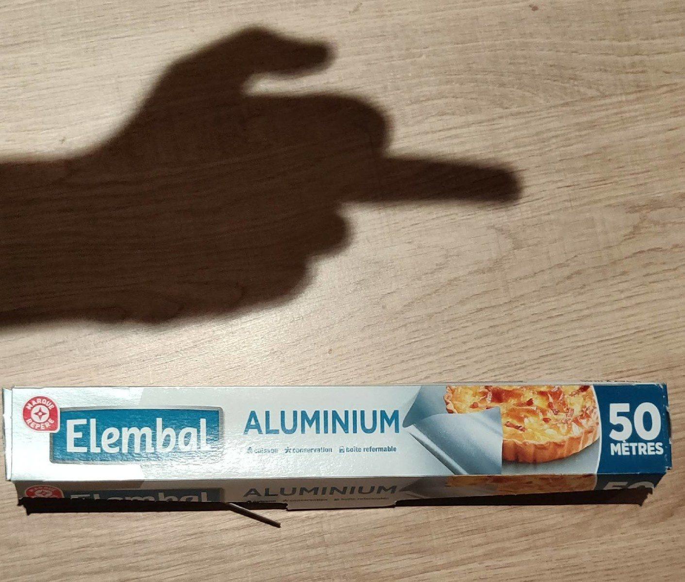 Papier Aluminium, Rouleau De 50 Mètres - Produit